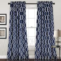 Lush Decor Rope Knot Room Darkening Window Curtain Panel Pair - 52 x 84