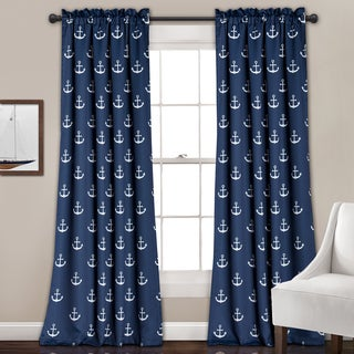 Lush Decor Anchor Room-darkening Window Panel Curtain Pair - 52 x 84