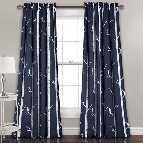 Lush Decor Bird On The Tree Room Darkening Window Curtain Panel Pair On Sale Overstock 12924716