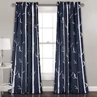 Lush Decor Bird on the Tree Room Darkening Window Curtain Panel Pair