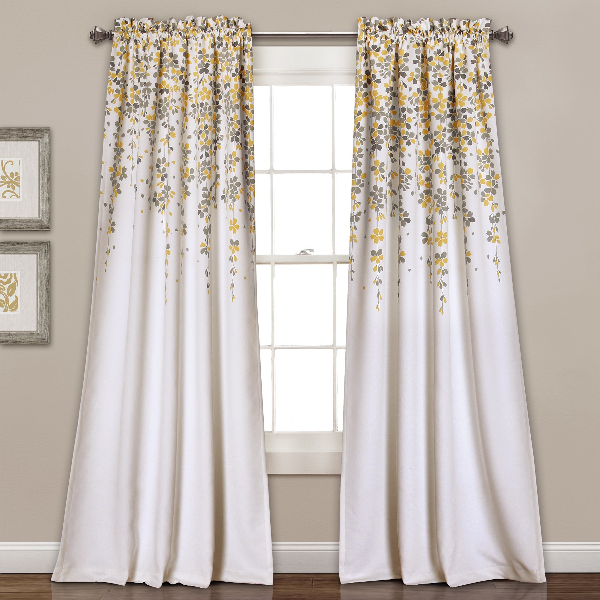 Fresh Topical Botanical Pattern Beige Linen Cotton Blend Fabric Room Darkening Curtains Decorate Interiors Elegant Look With These Country Style