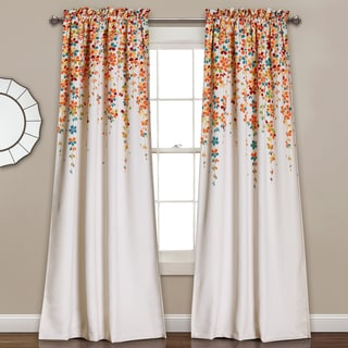 Lush Decor Weeping Flowers Room-darkening Window Curtain Panel Pair