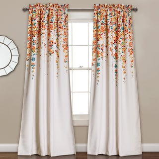 Lush Decor Weeping Flowers Room-darkening Window Curtain Panel Pair - 52 x 84 (4 options available)