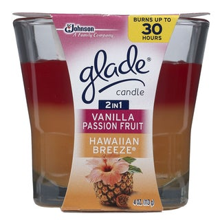 Glade 75361 4 Oz 2 In 1 Hawaiian Breeze & Vanilla Passion Fruit Candle