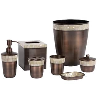 Stone Coloured Bathroom Accessories. Opal Copper 7 Piece Bath Accessory Set Brown Bathroom Accessories For Less  Overstock com