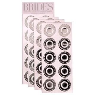 Brides Silver Embossed Foil Seals (Case of 40)