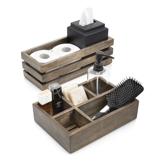 Driftwood Organizer Set