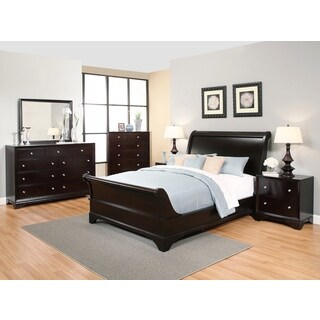 Abbyson Kingston 6-piece Espresso Sleigh Bedroom Set