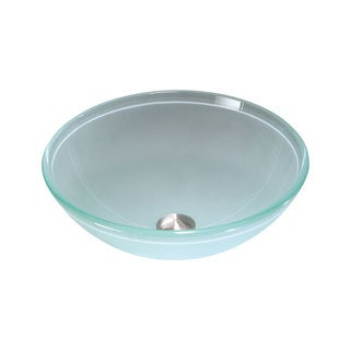Frosted Glass 16-inch Bathroom Sink
