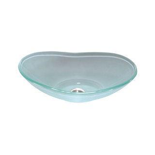 Lenova Frosted Glass 20 x 14-inch Bathroom Sink