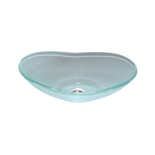 Lenova Frosted Glass 20 x 14-inch Bathroom Sink