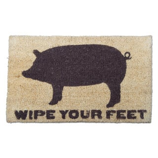 "TAG Wipe Your Feet Pig Coir Mat (30"" L x 18""W)"