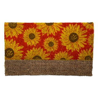 "TAG Sunflower Boot Scrape Coir Mat (30"" x 18"")"