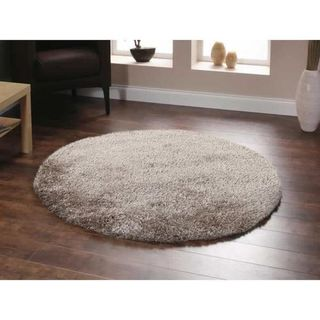 Shaw Uptown Girl Solid-colored Nylon/Polyester Premium Shag Area Rug (6' Round)