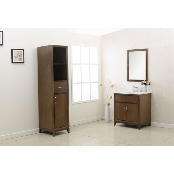 Legion Furniture Brown 3 Piece Bathroom Vanity Set