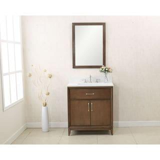 Legion Furniture Antique Coffee Colored 30 Inch Single Sink Quart Top Vanity