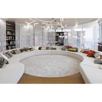 Shaw Uptown Girl Solid-colored Nylon/Polyester Premium Shag Oversized Area Rug (12' Round)