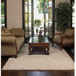 Shaw Uptown Girl Solid-colored Nylon/Polyester Premium Shag Oversized Area Rug (12' x 15')
