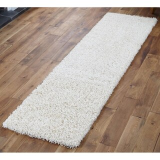 Shaw Uptown Girl Polyester Shag Runner Rug (2'6 x 12')