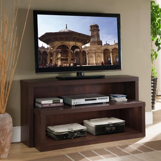 KD Furnishings Terraces Contemporary LED-lighted Wood TV Console