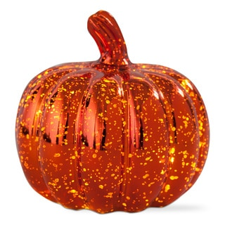 TAG Halloween LED Mercury Glass Pumpkin Large