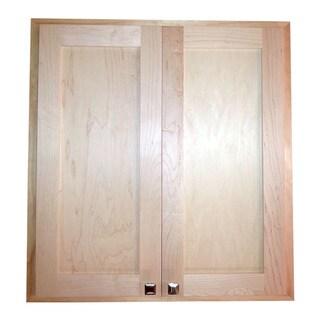 WG Wood Products Craftsman 24-inch x 3.5-inch D Recessed Double-door Medicine/Storage Cabinet