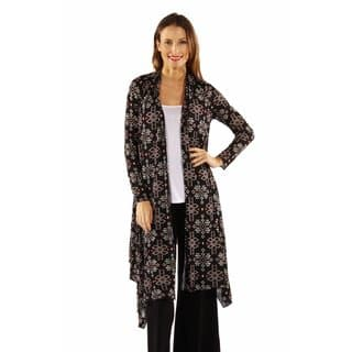 24/7 Comfort Apparel Women's Sexy Sizzle Patterned Cardigan Shrug|https://ak1.ostkcdn.com/images/products/12924943/P19678537.jpg?impolicy=medium
