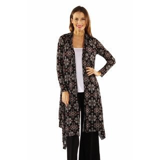 24/7 Comfort Apparel Women's Sexy Sizzle Patterned Cardigan Shrug