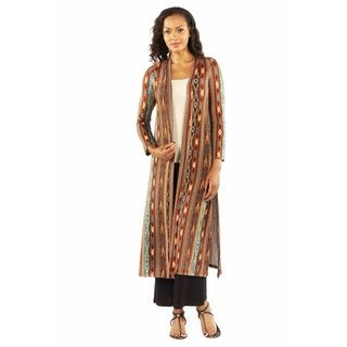 24/7 Comfort Apparel Women's Rich Patterned Shrug Cardigan