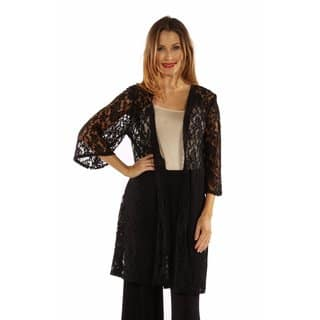 24/7 Comfort Apparel Women's Elegant Lace Cardigan Shrug|https://ak1.ostkcdn.com/images/products/12924946/P19678539.jpg?impolicy=medium