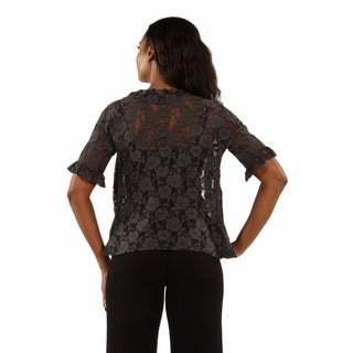 24/7 Comfort Apparel Women's Goddess Black Lace Bolero Cardigan Shrug
