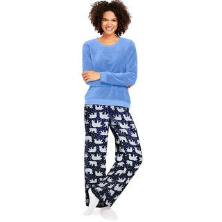 Hane's Women's Ultimate Plush Lounge Set