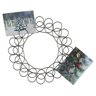 TAG Christmas Spiral Wreath Greeting Card Holder
