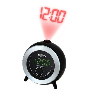 Spectra Mechandising JCR-225 Black & Silver Dual Alarm Projection Clock Radio