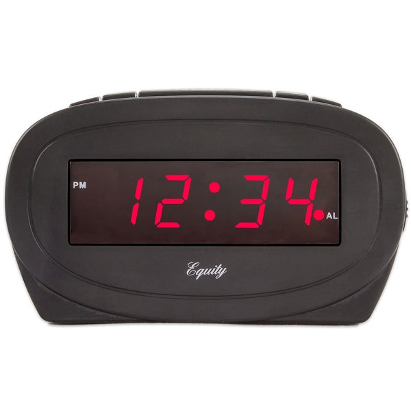 Equity 30228 Black LED Alarm Clock
