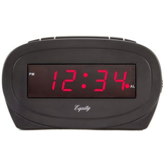 Equity 30228 Black LED Alarm Clock