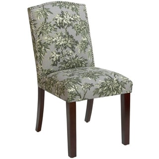 Skyline Furniture Arched Dining Chair in Sylvan Toile Greystone
