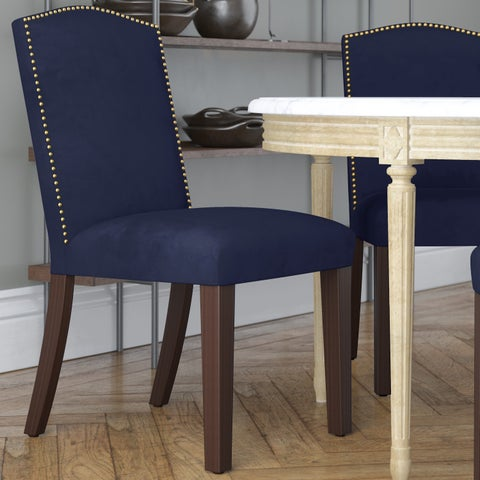 Skyline Furniture Velvet Navy Polyester Arched Dining Chair