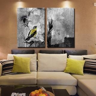 Ready2HangArt 2 Piece 'Painted Petals XVI' Canvas Art Set