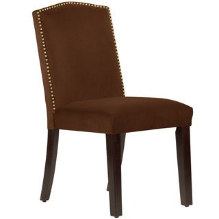 Skyline Furniture Regal Velvet Chocolate Arched Dining Chair