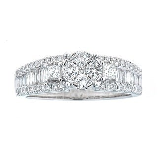 Anika and August 18k White Gold 1ct TDW Diamond Ring (SI1-SI2, G-H)