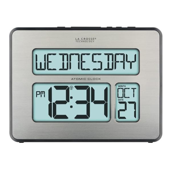 La Crosse Technology C86279 Backlight Atomic Full Calendar Clock with Extra Large Digits