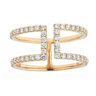 Anika and August 10k Yellow Gold 5/8ct TDW Diamond Ring (G-H, SI1-SI2)