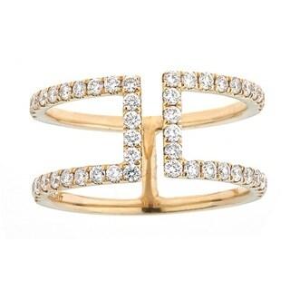 Anika and August 10k Yellow Gold 5/8ct TDW Diamond Ring
