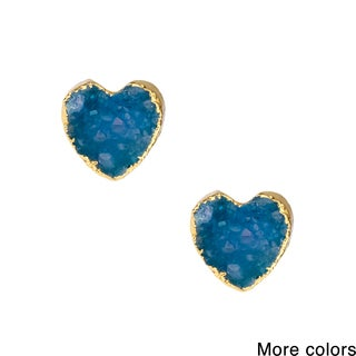 Saachi Druzy Heart Studs (China)