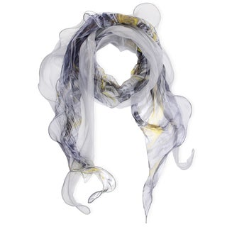Saachi Wild Abstract Print Silk Scarf (China)
