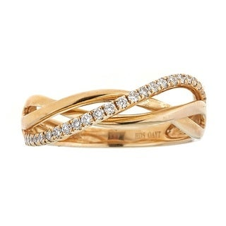 Anika and August 10k Yellow Gold 1/4ct TDW Diamond Ring (G-H, SI1-SI2)