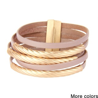 Saachi Leather Bracelet with Tube Charms (China)