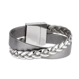 Saachi Twisted Leather Bracelet (China)