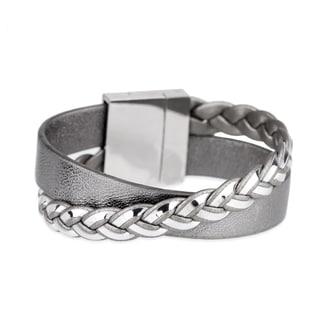 Handmade Saachi Twisted Leather Bracelet (China)